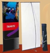 Tahiti Banner - Display 85 x 185/215 cm